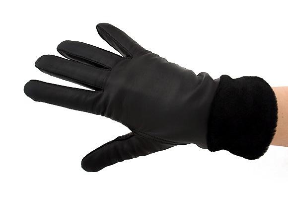 0318c4a2e32b66 Rękawiczki ocieplane. z ozdobną wstawką · rękawiczki skórzane z paskiem  ściągającym